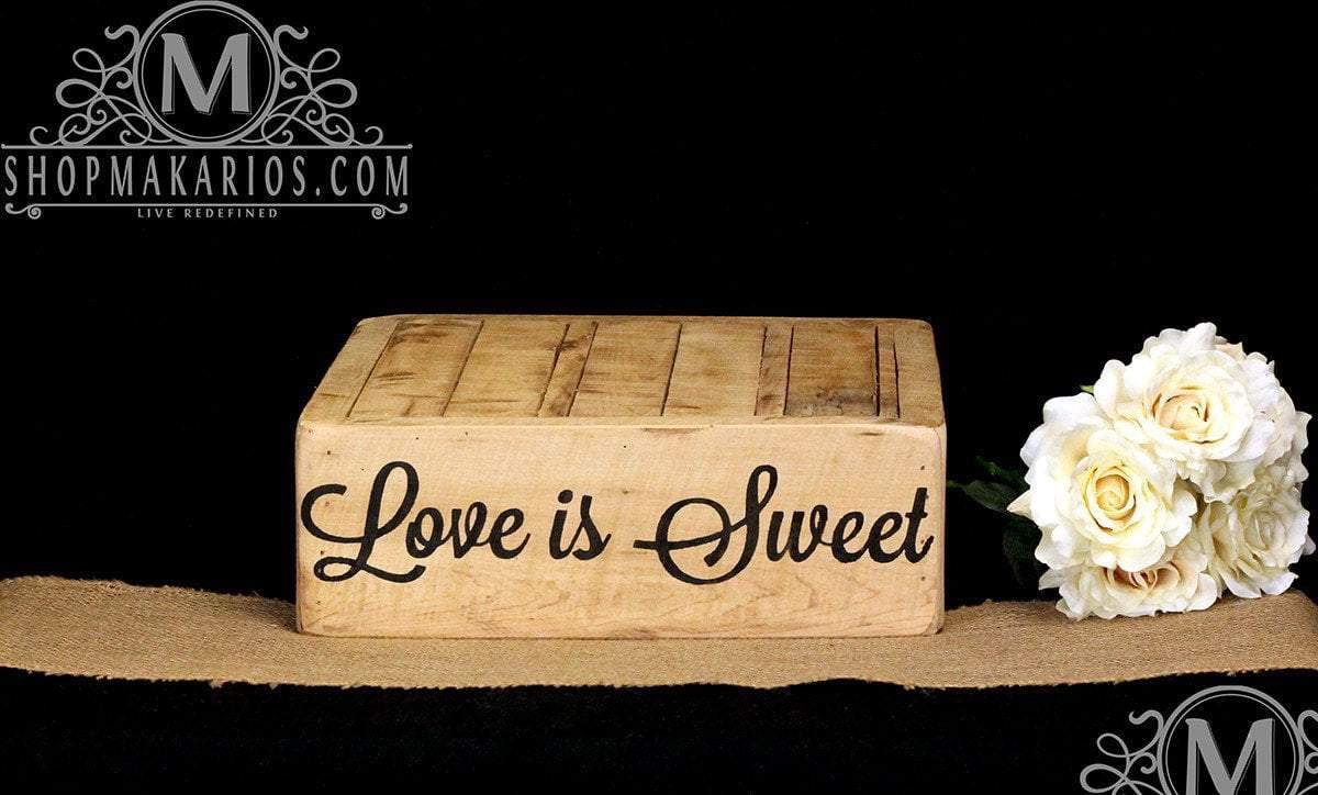 Rustic Cake Stand -Wood Cake Stand - Shop Makarios - Custom Cake Stand