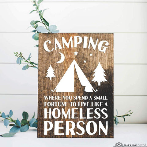 Camping Homeless Person