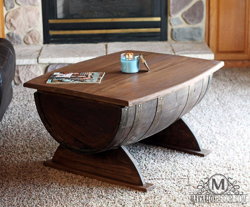 Barrel Table Barrel Coffee Table Whiskey Barrel Table