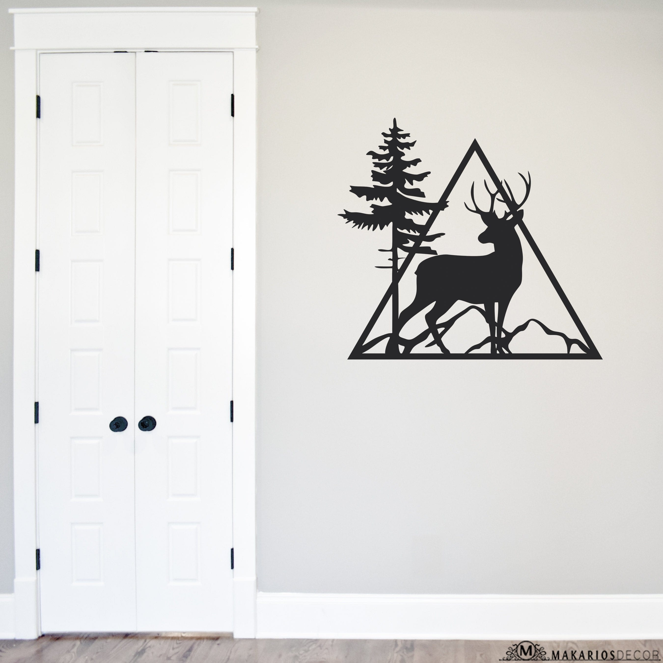 Triangle Deer Sign