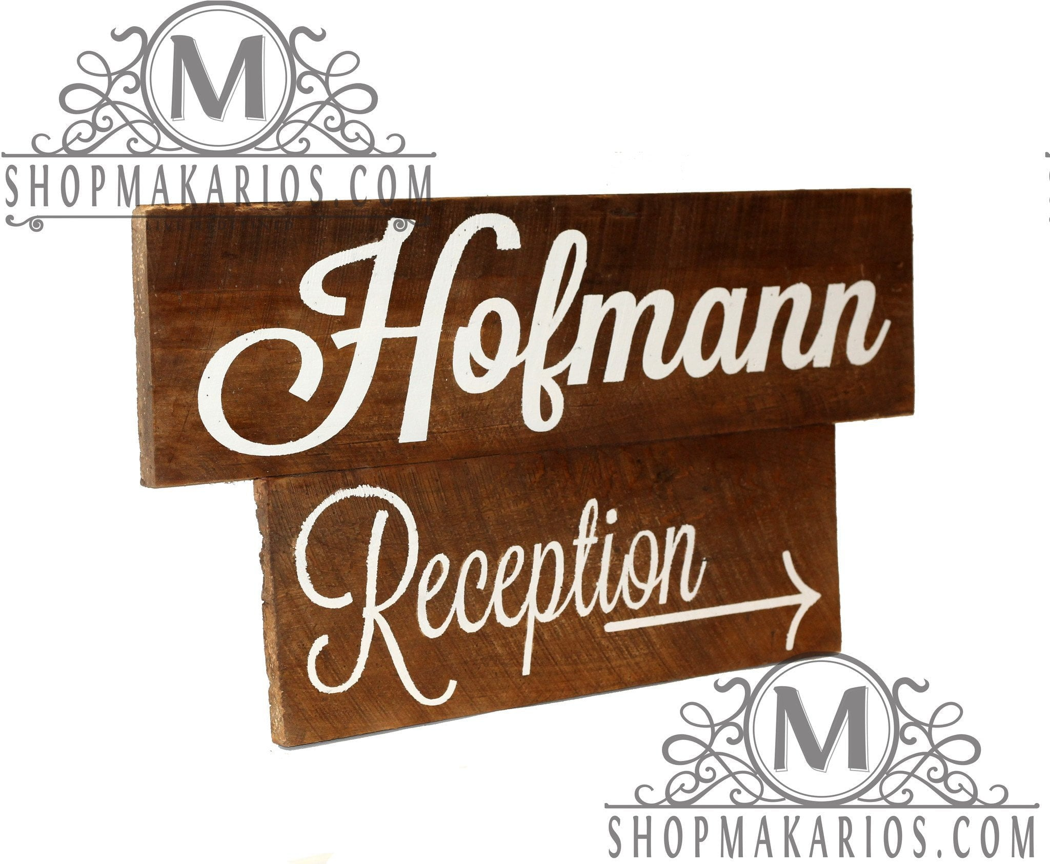 Reception Arrow Sign