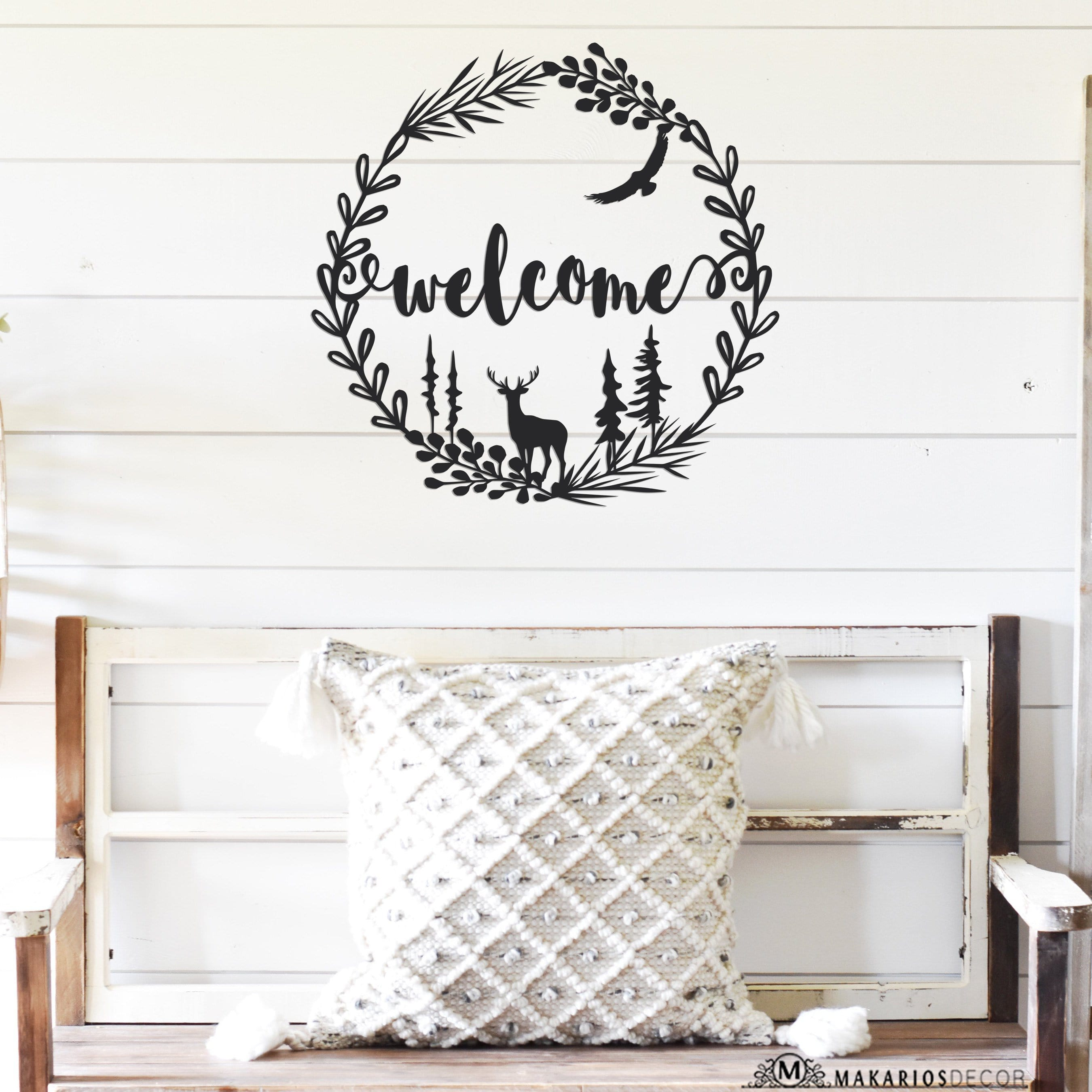 Woodsy Welcome Wreath