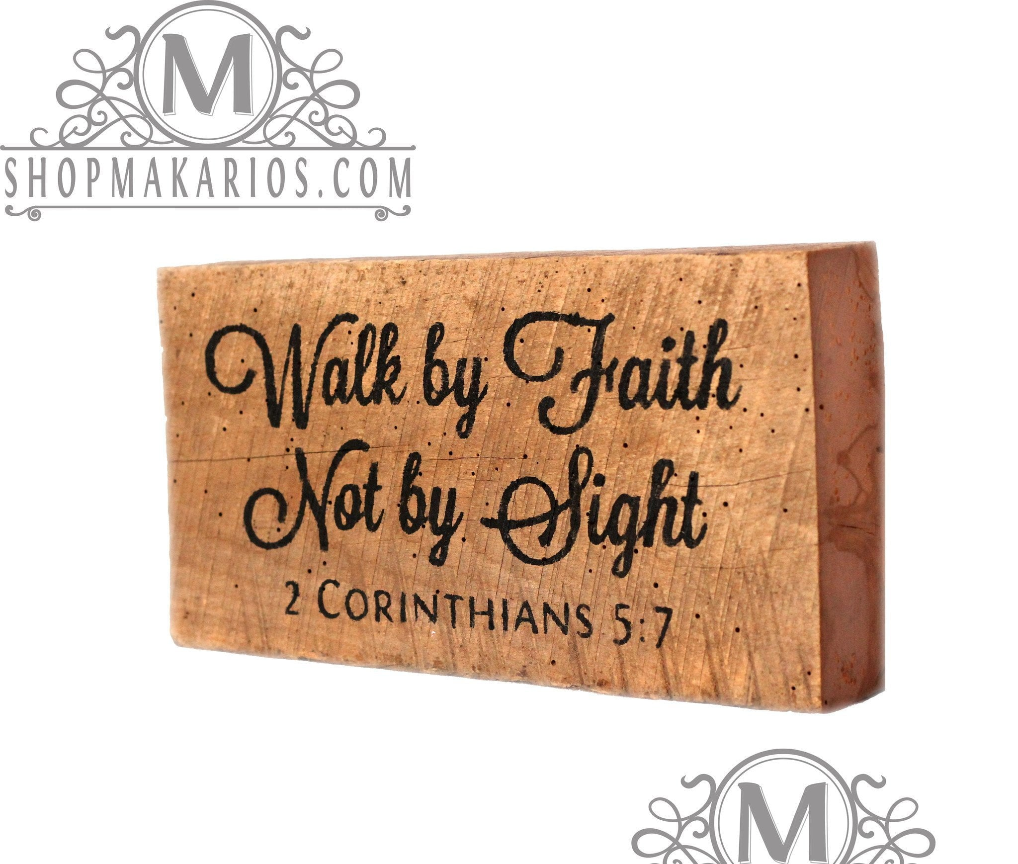 Walk by faith, not by sight  - Shelf Block