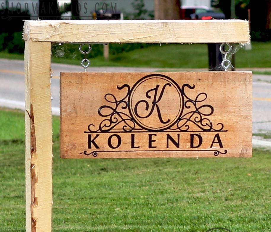 custom outdoor sign yard sign personalized yard sign