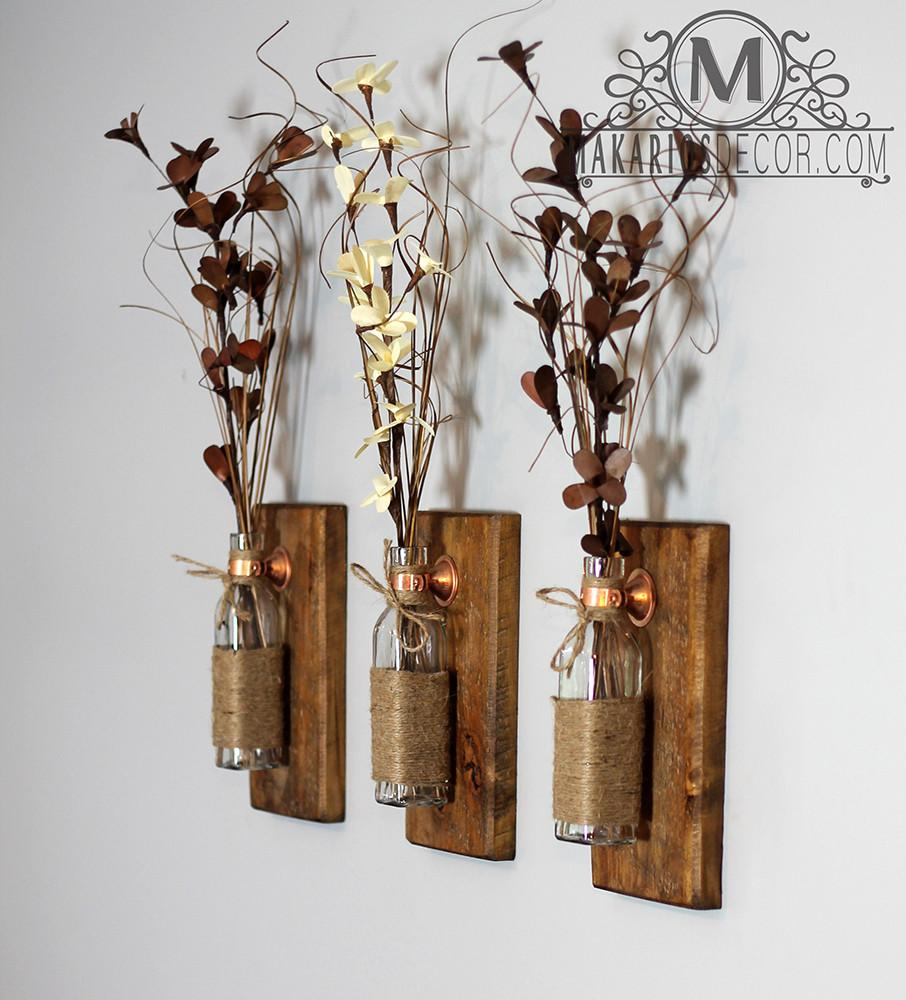 Wall decor sconce thejots shop makarios rustic wall sconces reclaimed wood wall sconces home designs amipublicfo Images