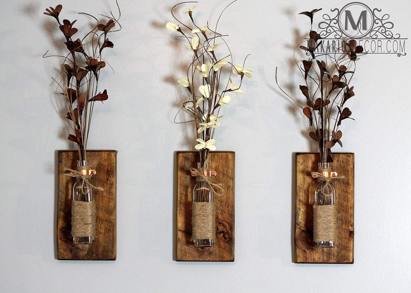 Shop makarios rustic wall sconces reclaimed wood wall for Home made decorative items