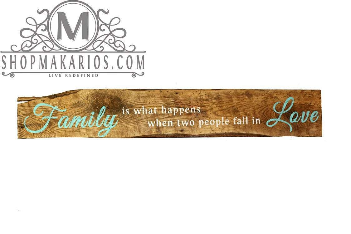 Quot When Two People Fall In Love Quot Barn Wood Sign Custom