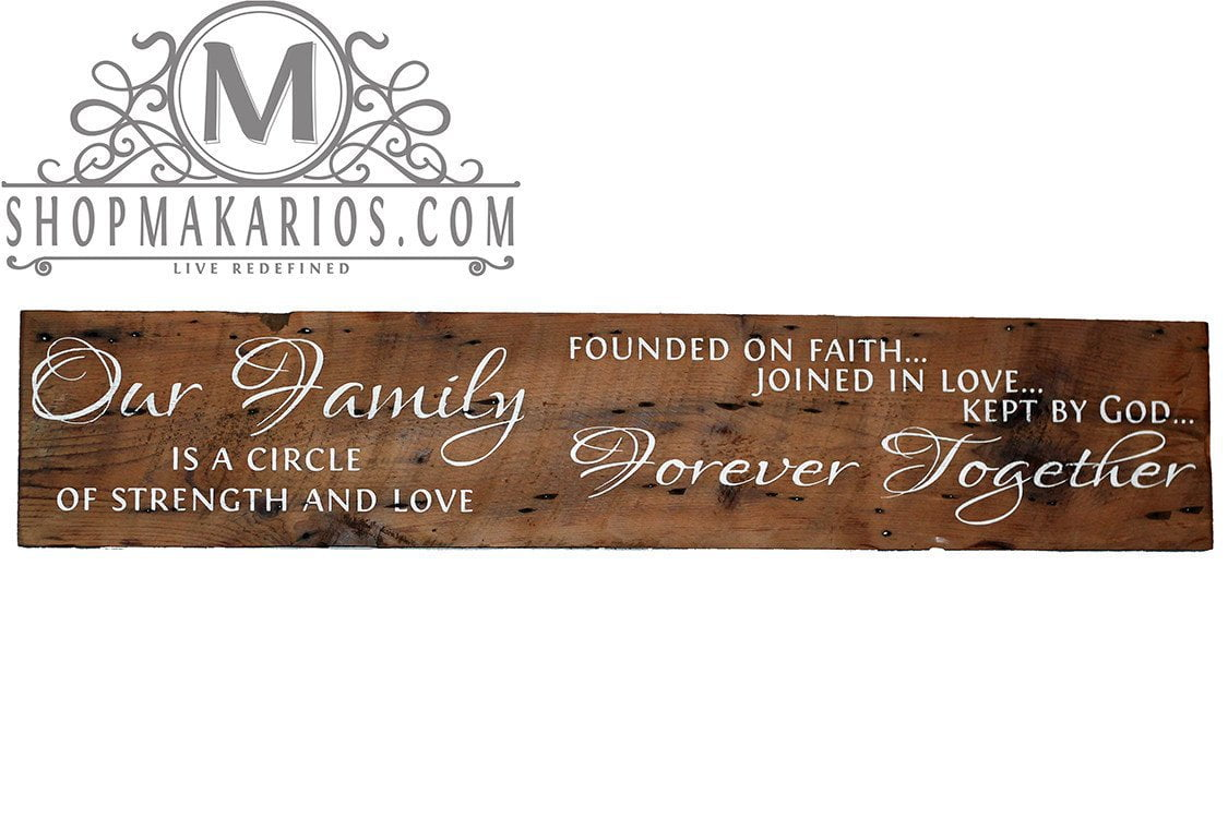 Circle Of Strength Love Barn Wood Sign Custom Sign Wood Sign
