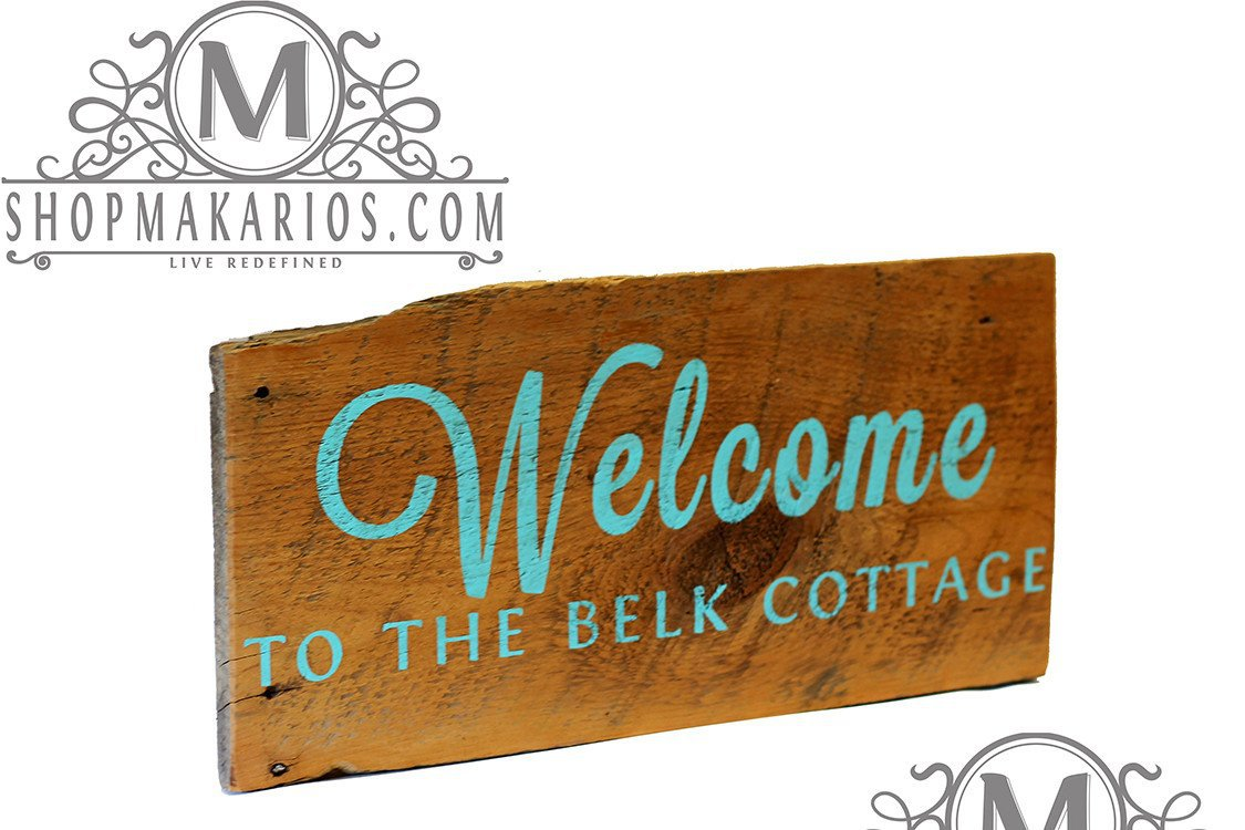 Quot Welcome Cottage Sign Quot Barn Wood Sign Custom Sign