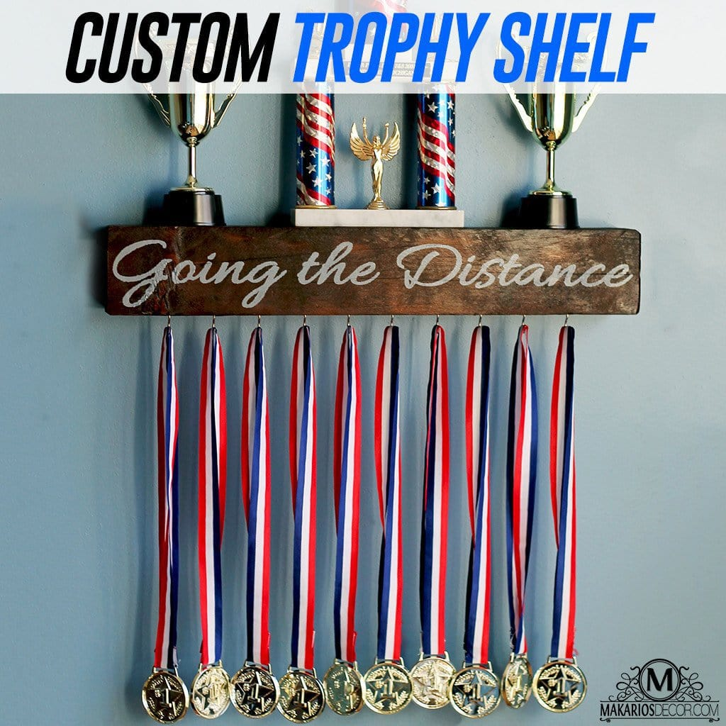 Custom Trophy Shelf