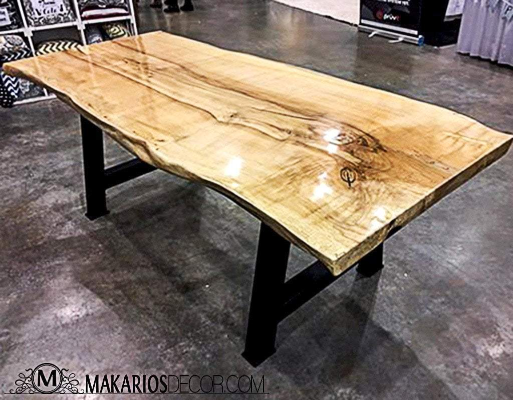 Kitchen island, wood slab counter top