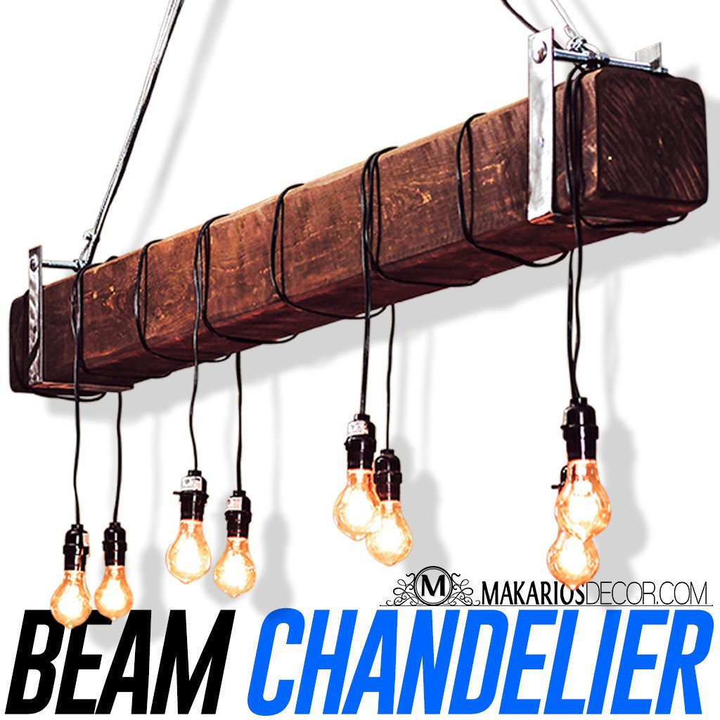 Rustic Beam Chandelier