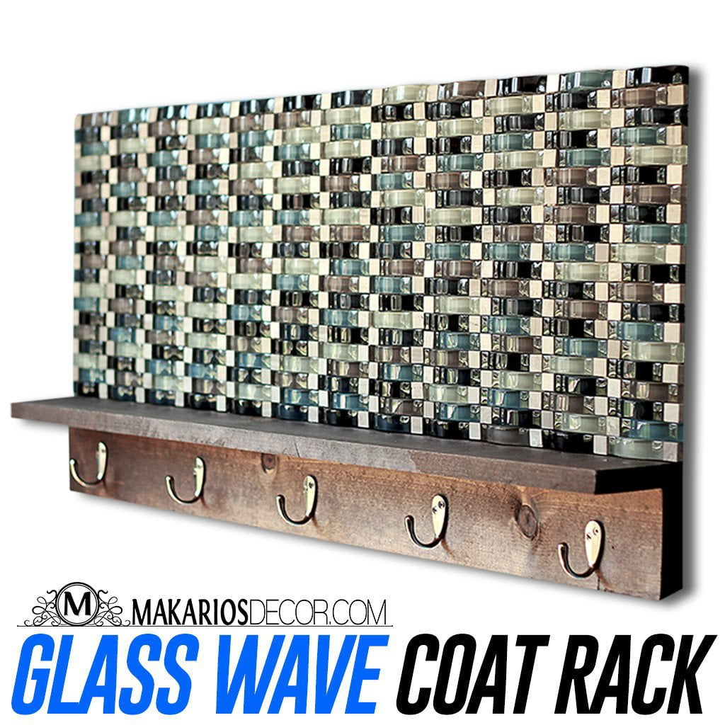 Glass Wave Coat Rack