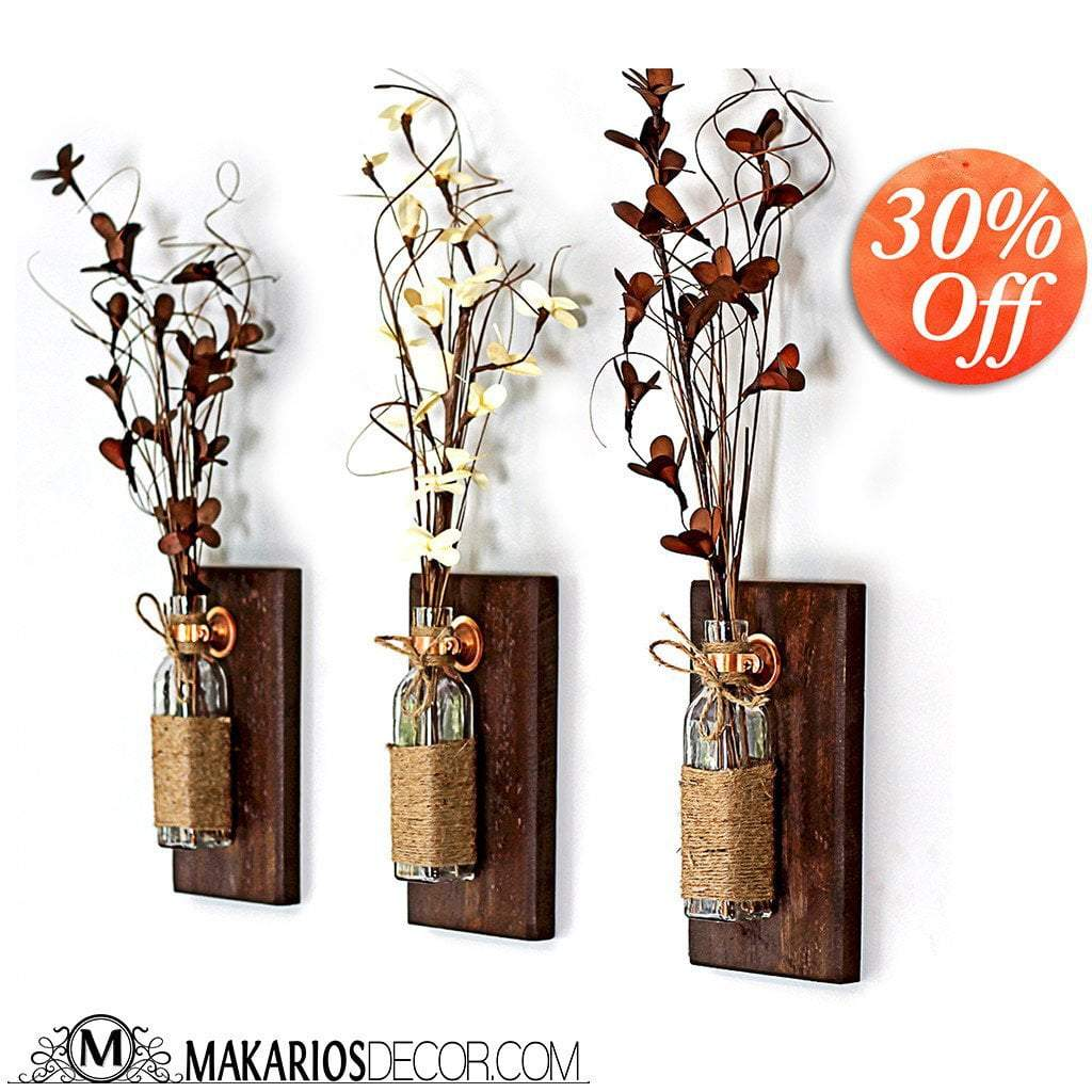 Shop makarios rustic wall sconces reclaimed wood wall sconces rustic wall sconces reviewsmspy