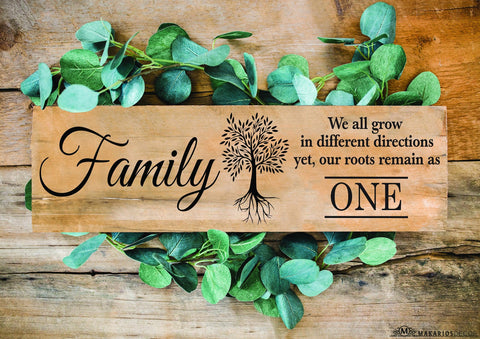 Family Roots Sign