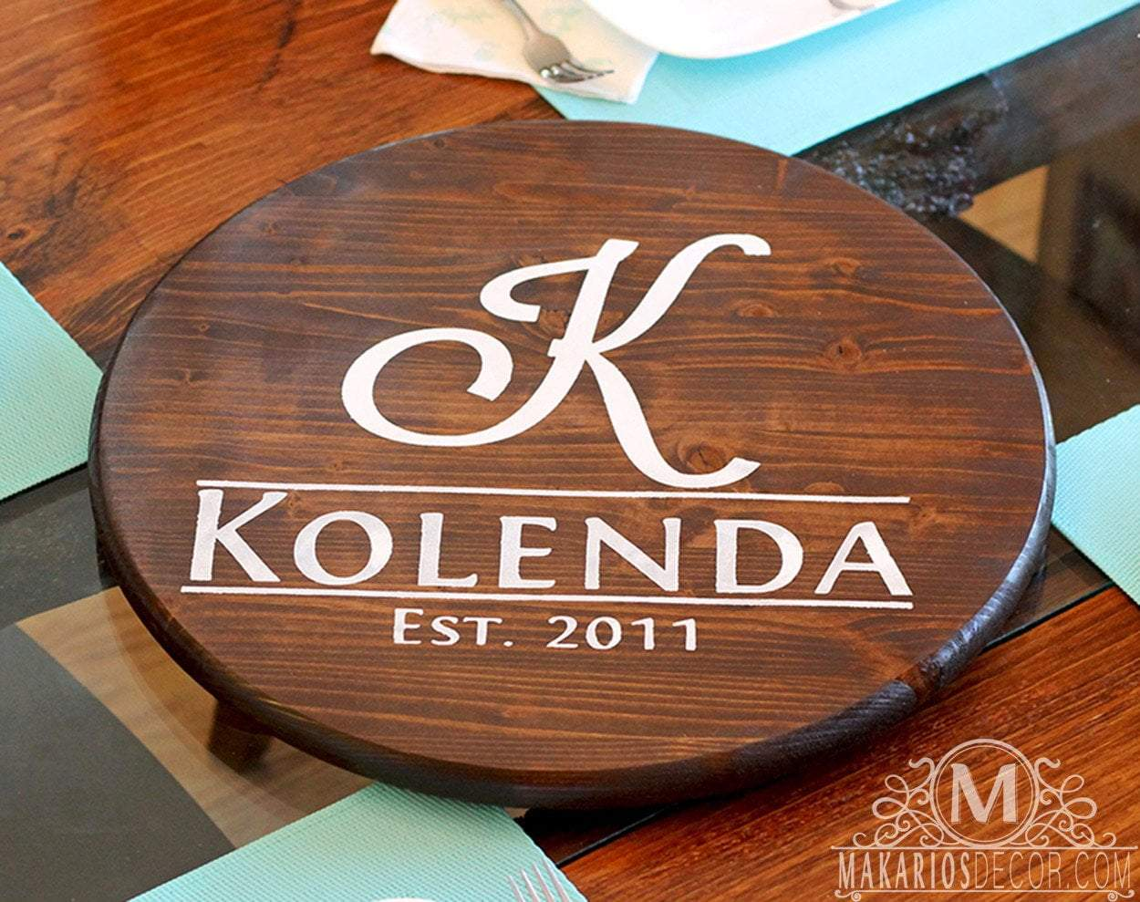 Custom Lazy Susan Personalized By Makarios Decor