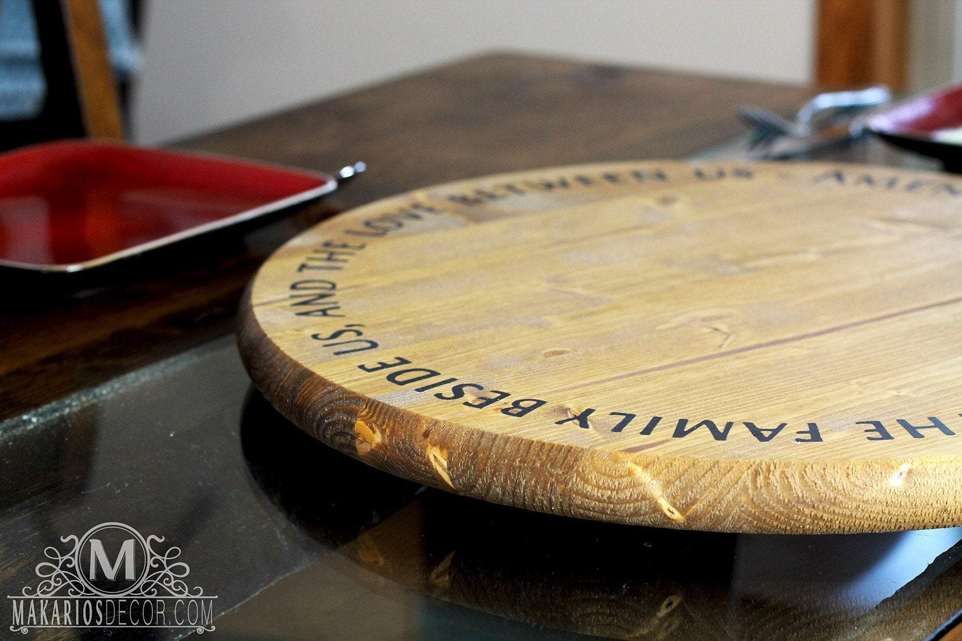 Custom Lazy Susan - Personalized by Makarios Decor