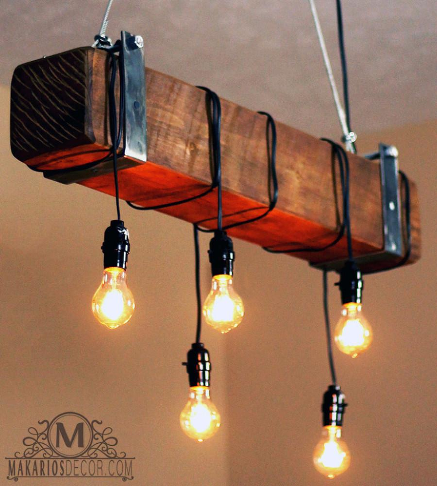 Wood beam chandeliers free shipping reclaimed wood beam chandelier rustic beam chandelier aloadofball Images