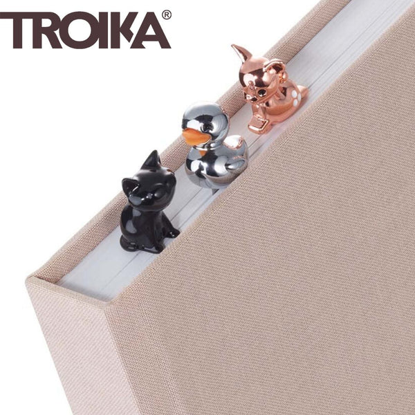 Troika Stainless Steel Bookmarks with Delightful Charms