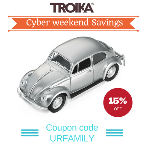 Troika Cyber Weekend Savings use Coupon URFAMILY and save