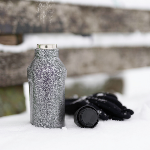 Troika 600 ml/20 fl. oz. Insulated Bottle with Hammered finish