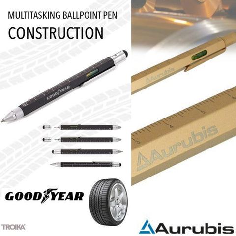 Troika Construction Pen Logo Engraving Examples