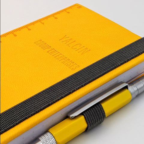 Yellow Troika Construction Lilipad and Liliput Mini Notebook and Mini Pen with Logo debossing