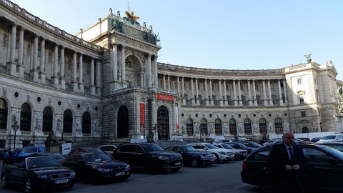 Hofburg Palace in Vienna for the Marke Tradeshow with Troika Exhibit April 2016