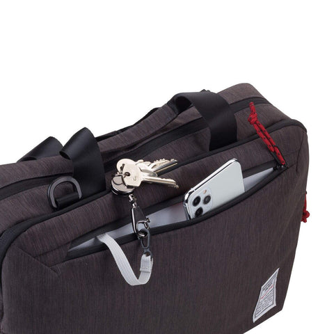 Troika Business Briefcase XXL showing zipper pocket with keyring