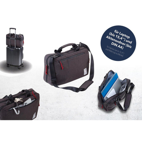 Troika BBG60 Business Briefcase XXL Showing Bag Features