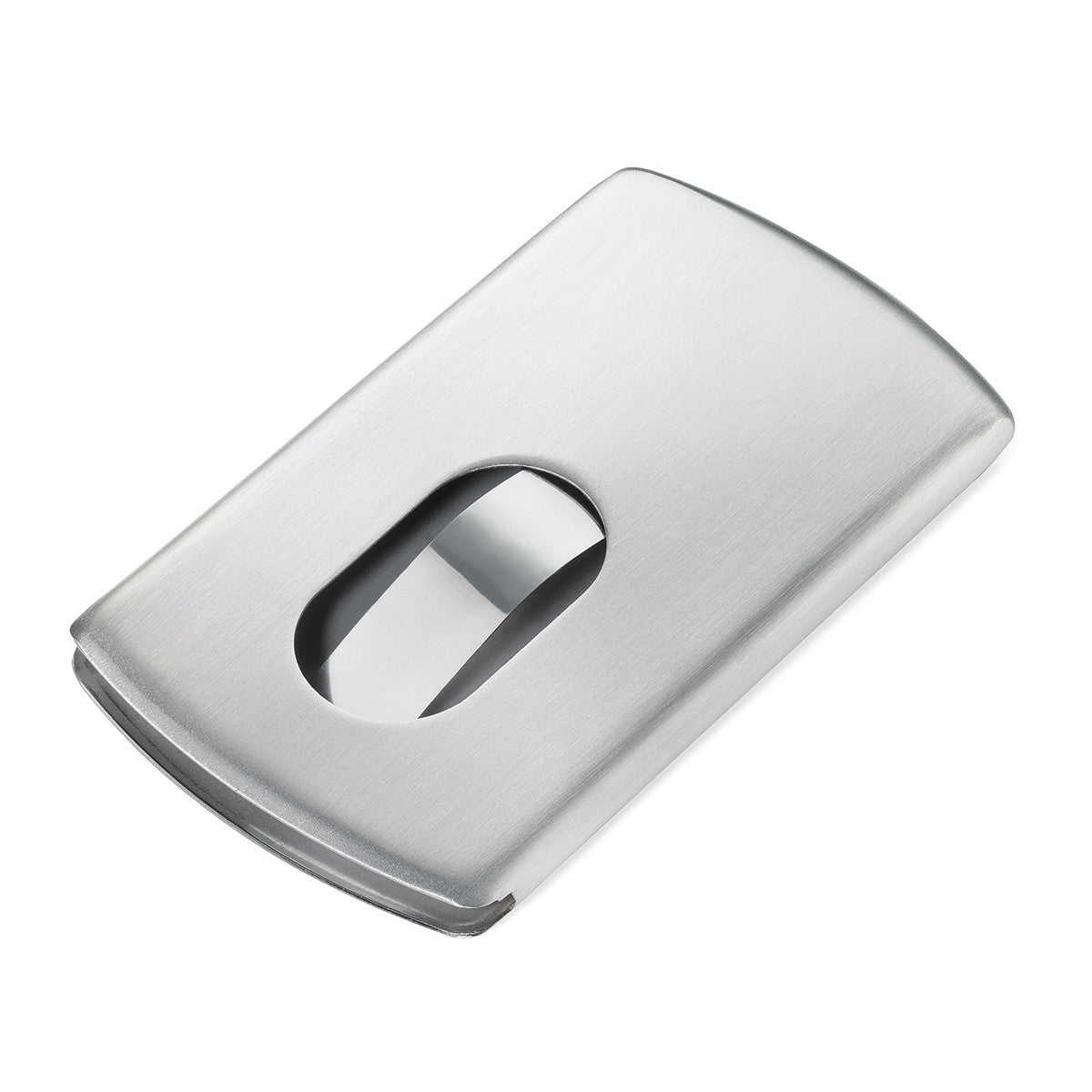 Troika Slide Business Card Case with Spring, Stainless | Troikaus.com