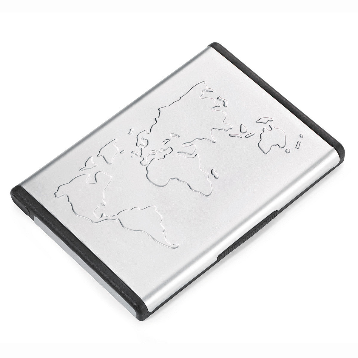 Troika Mr. Slowhand Hydrodynamic Business Card Case with World Map ...
