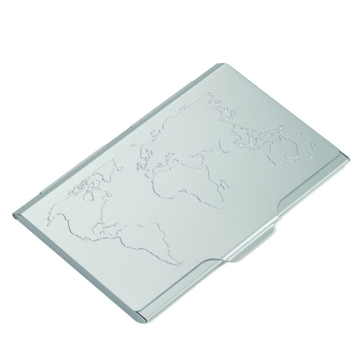Troika Global Contacts Business Card Case with World Map