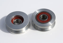 Spare pulley guides with bearings x2