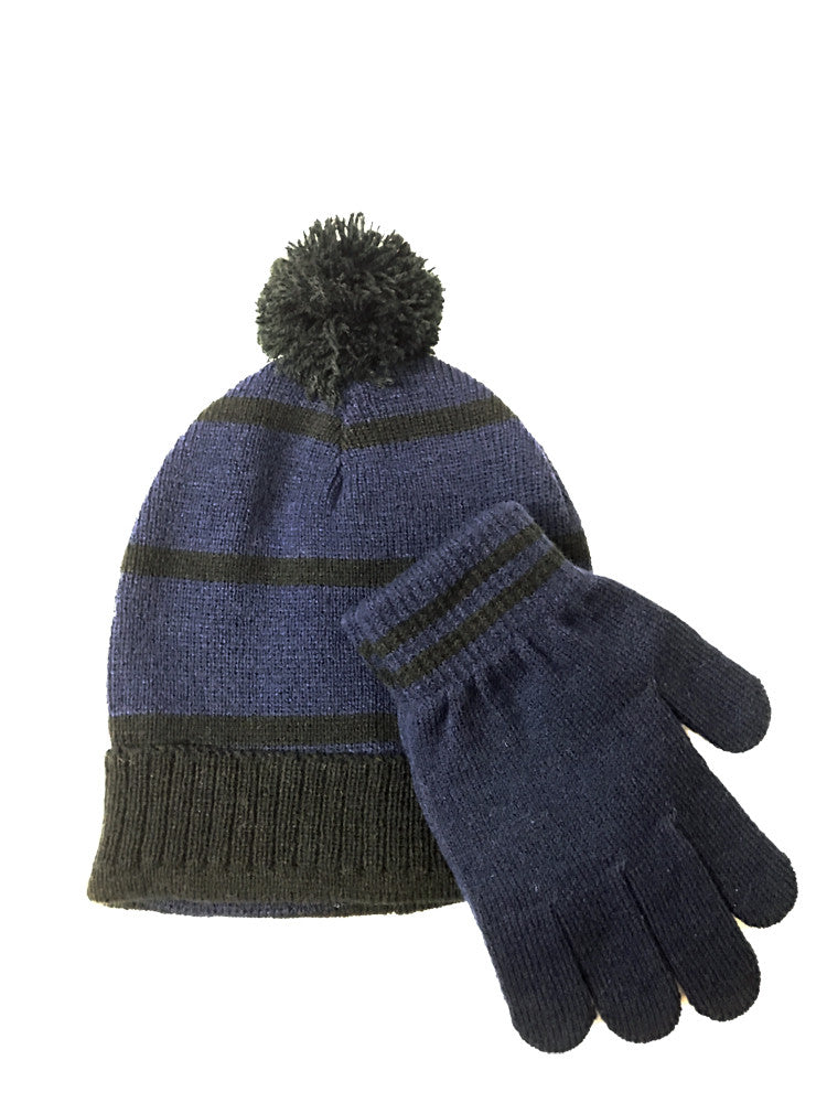 3fe86056e4a82 Winter-Hats Kids Pom Hat   Glove Set