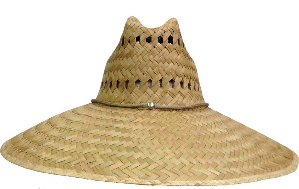 Natural and Neutral Hats Adult Rush Straw Lifeguard Hat 73d294d4472