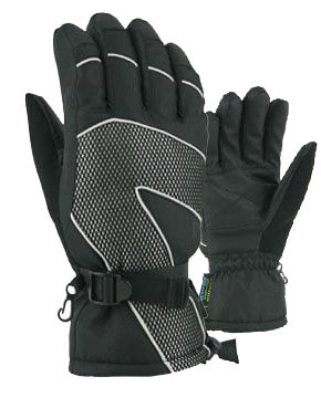 Winter Gloves-Snowboard Men's Reflective Piping Bec-Tech Tusser Snowboard Glove