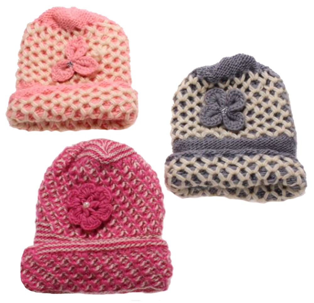 e9a210103e0 Winter-Hats Girls Heavy Knit Hat with Cuff - Wholesale Resort ...