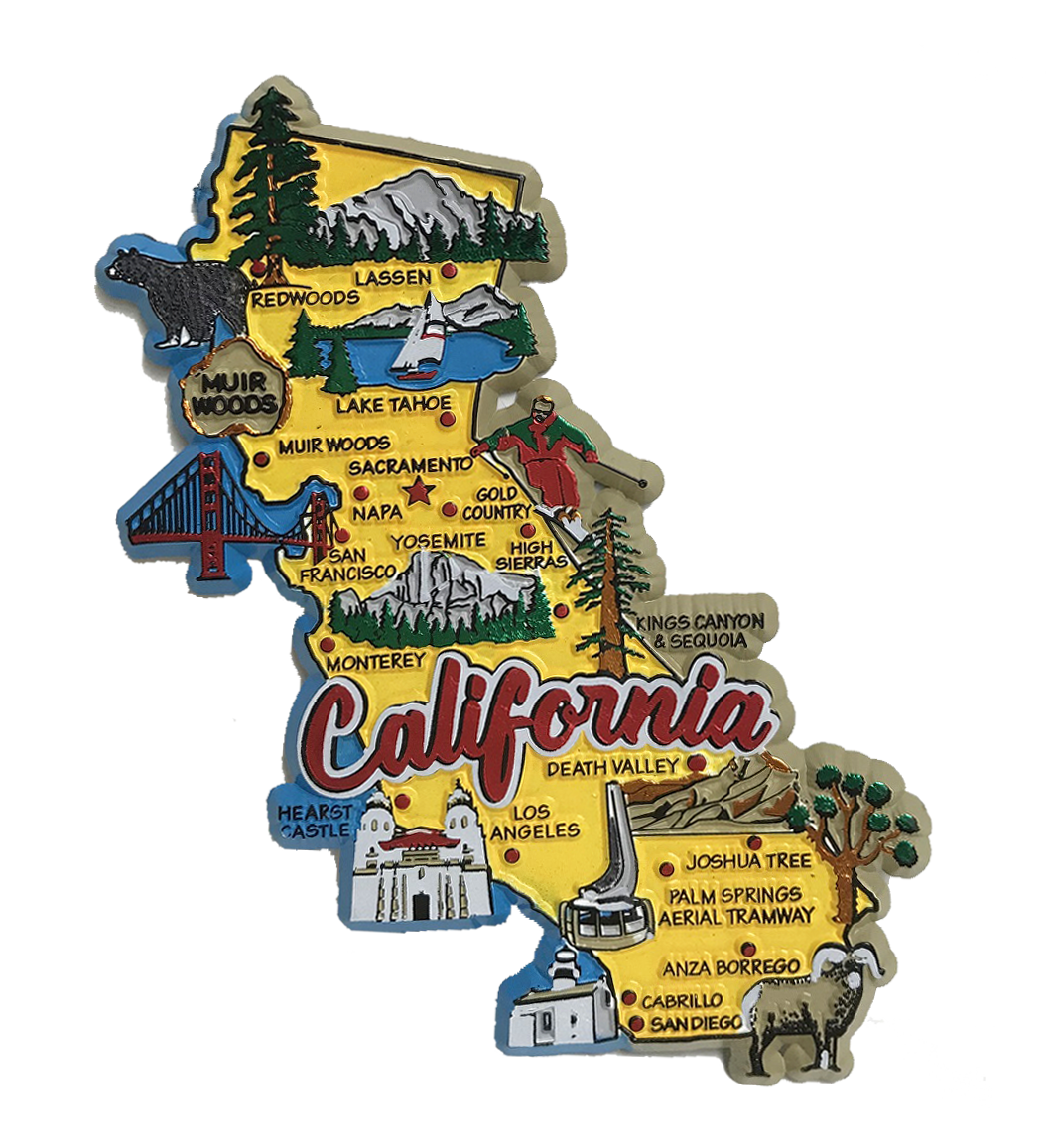Souvenir Magnet California State Map on map accessories, map books, map pamphlets, map buttons, map pencils, map room decor, map puzzles, map name tags, map furniture, map post cards, map games, map throw blanket, map tools, map dry erase board, map paper, map lettering, map science projects, map invitations, map wall graphic, map watches,