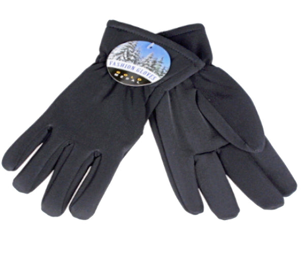 Winter Gloves-Ladies Feather Lined Stretch Glove, Black