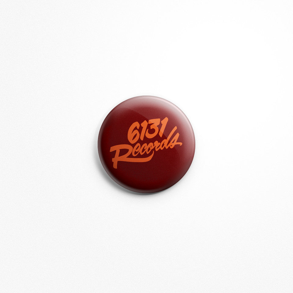 "6131 Records ""Classic"" 1"" Button - Orange / Red"