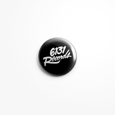 "6131 Records ""Classic"" 1"" Button - Black / White"