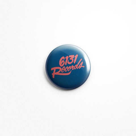 "6131 Records ""Classic"" 1"" Button - Red / Blue"