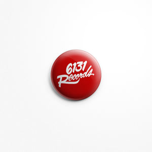"6131 Records ""Classic"" 1"" Button - White / Red"