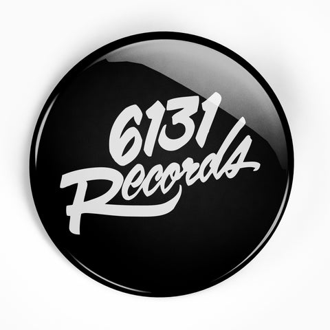 "6131 Records ""Classic"" 2.25"" Button - Black / White"