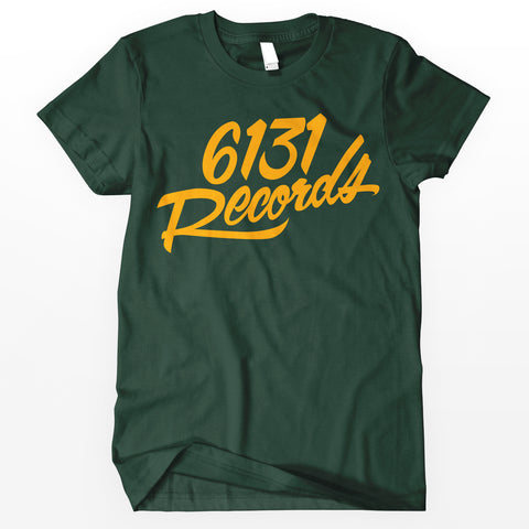 "6131 Records ""Classic"" Shirt - Green / Yellow"