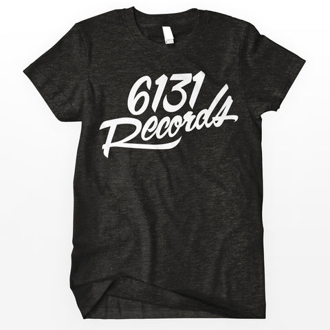 "6131 Records ""Classic"" Shirt - White / Charcoal"
