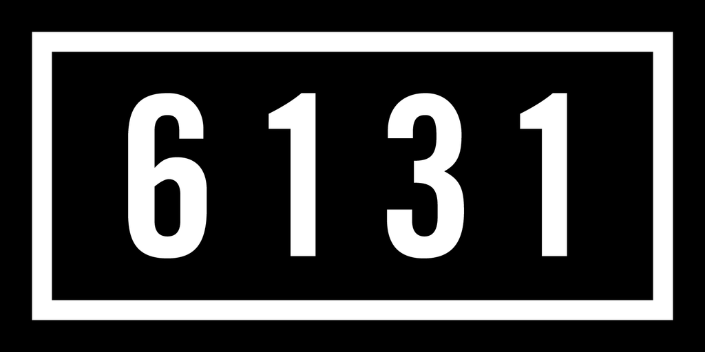 "6131 Records ""Logo"" 12"" x 6"" Sticker"