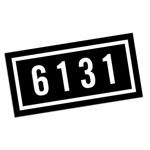 "6131 Records ""Logo"" 5.5"" x 2.75"" Sticker"