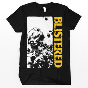 "Blistered ""Skeleton"" Shirt - Yellow Words"